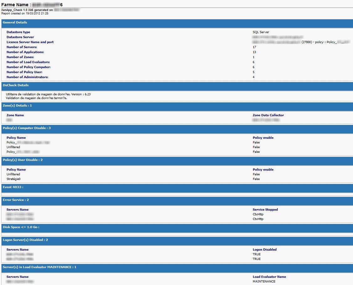 XenApp_Check : Health check for XenApp farm