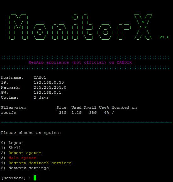 Menu-MonitorX