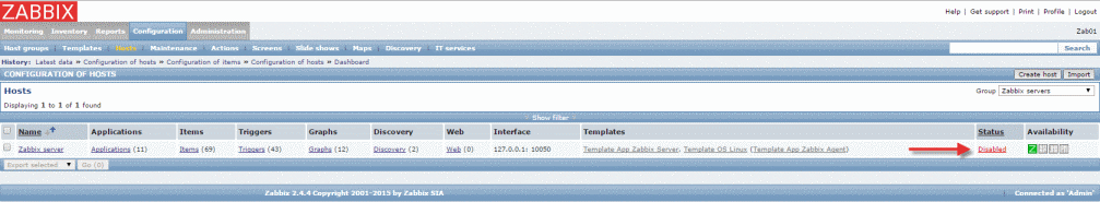 MonitorX_EnableSrv_Zabbix
